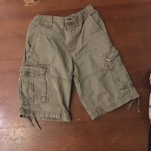 Youth boy tan cargo shorts